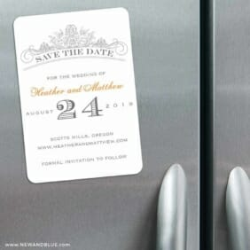 Sonnet 3 Refrigerator Save The Date Magnets