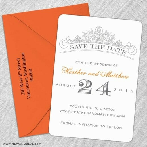 Sonnet 5 Save The Date With Optional Color Envelope