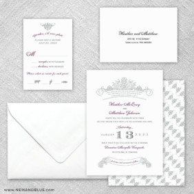 Sonnet 5 Wedding Invitation And Rsvp Card