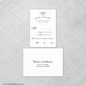 Sonnet 6 Reception Card And Rsvp Card