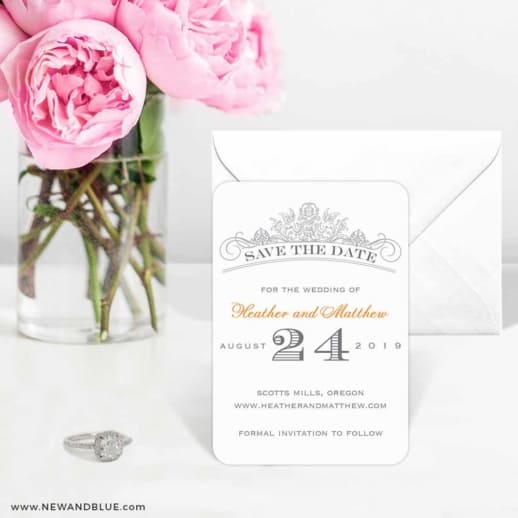 Sonnet 6 Wedding Save The Date Magnets
