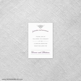 Sonnet 7 Reception Card