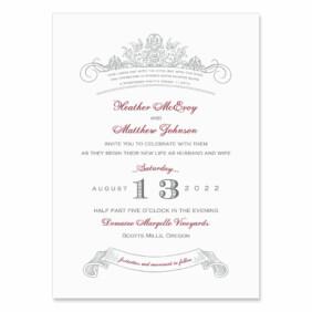 Sonnet Wedding Invitation