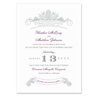 Sonnet Wedding Invitation