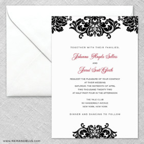 Sonoma 2 Invitation And Envelope