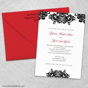 Sonoma 3 Invitation And Color Envelope