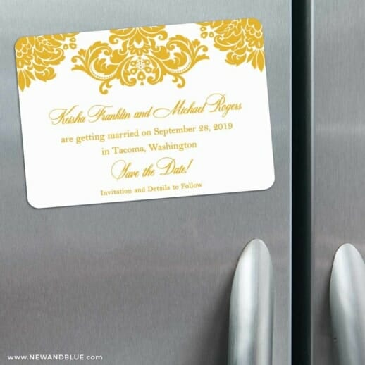Sonoma 3 Refrigerator Save The Date Magnets