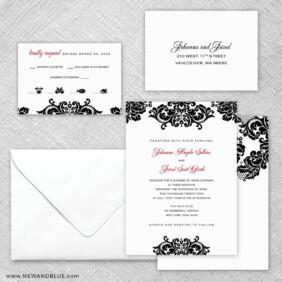 Sonoma 5 Wedding Invitation And Rsvp Card