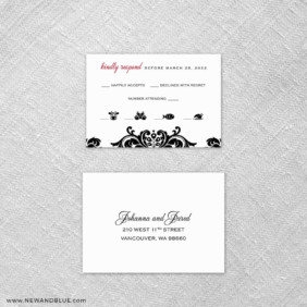 Sonoma 6 Reception Card And Rsvp Card