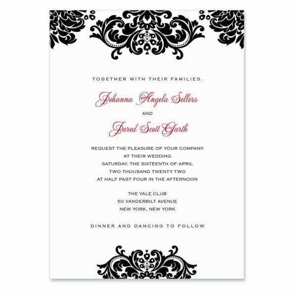 Sonoma Invitation Shown In Color Black