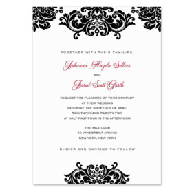 Sonoma Wedding Invitation