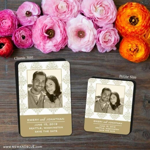 Sorrento 2 Save The Date Magnet Classic And Petite Size