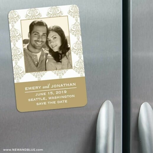 Sorrento 3 Refrigerator Save The Date Magnets