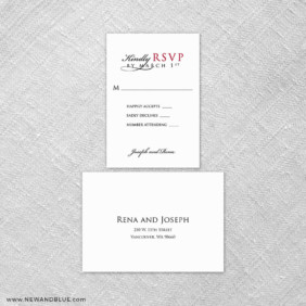 Sorrento 6 Reception Card And Rsvp Card