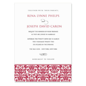 Sorrento Wedding Invitation