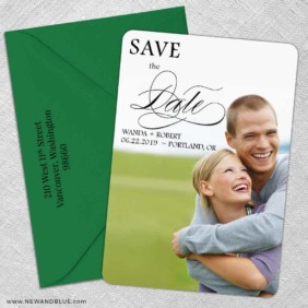 Sparks Of Passion 5 Save The Date With Optional Color Envelope