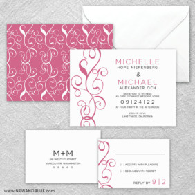 Sprout 5 Wedding Invitation And Rsvp Card