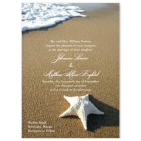 Starfish By Sea Wedding Invitation