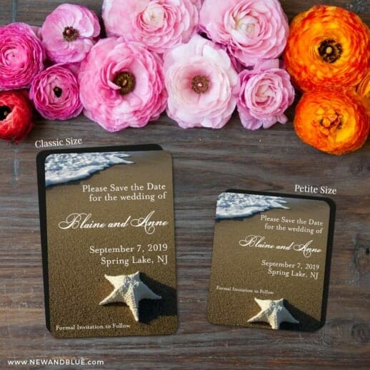 Starfish By The Sea 2 Save The Date Magnet Classic And Petite Size