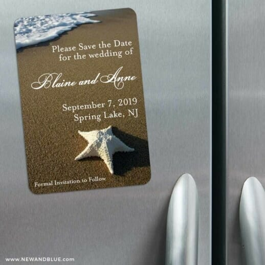 Starfish By The Sea 3 Refrigerator Save The Date Magnets