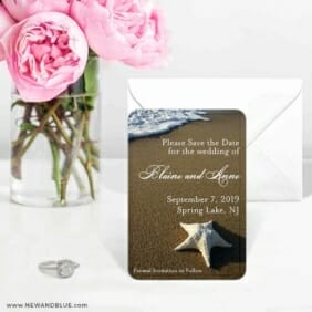 Starfish By The Sea 6 Wedding Save The Date Magnets