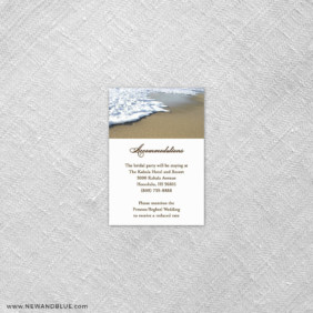 Starfish By The Sea 7 Reception Card
