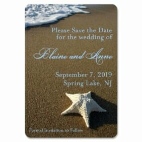 Starfish By The Sea 1 Save The Date Magnets