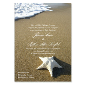 Starfish By The Sea Wedding Invitation