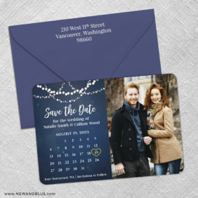 Starlight V2 3 Save The Date With Optional Color Envelope