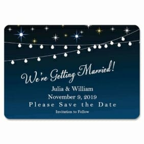 String Of Lights 1 Save The Date Magnets