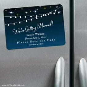 String Of Lights 3 Refrigerator Save The Date Magnets