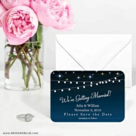 String Of Lights 6 Wedding Save The Date Magnets