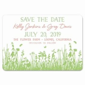 Summer Fields 1 Save The Date Magnets