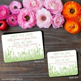 Summer Fields 2 Save The Date Magnet Classic And Petite Size