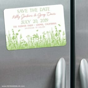 Summer Fields 3 Refrigerator Save The Date Magnets