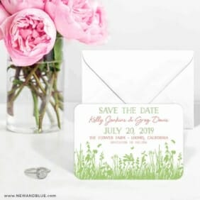 Summer Fields 6 Wedding Save The Date Magnets
