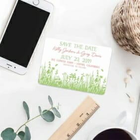 Summer Fields 7 Wedding Save The Date Magnets