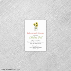 Sunflower 7 Reception Card