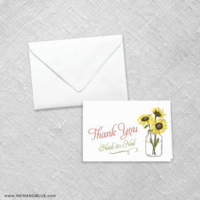 Sunflower 8 Thank You Card
