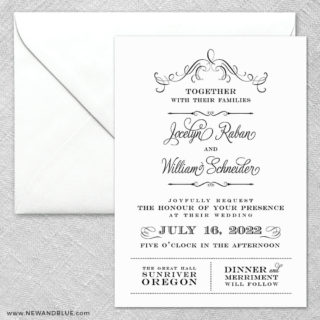 Sunriver 2 Invitation And Envelope