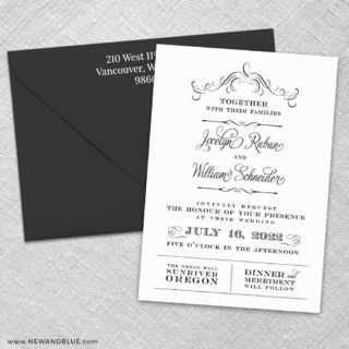 Sunriver 3 Invitation And Color Envelope