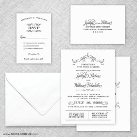 Sunriver 5 Wedding Invitation And Rsvp Card