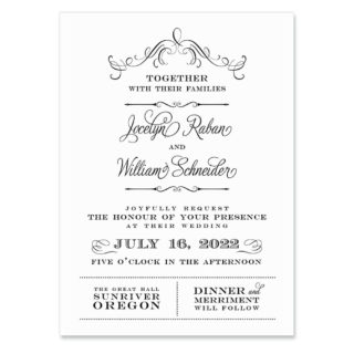 Sunriver Invitation Shown In Color Black