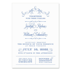 Sunriver Wedding Invitation