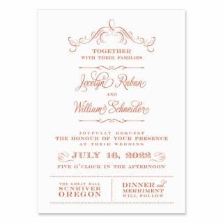 Sunriver Wedding Invitation