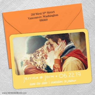 Sunshine 5 Save The Date With Optional Color Envelope