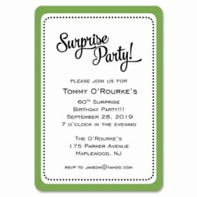 Surprise Party 1 Save The Date Magnets