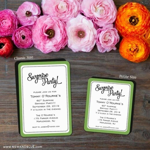 Surprise Party 2 Save The Date Magnet Classic And Petite Size
