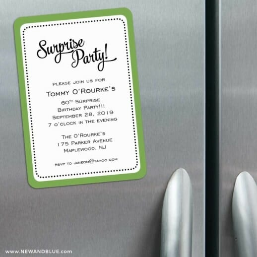 Surprise Party 3 Refrigerator Save The Date Magnets
