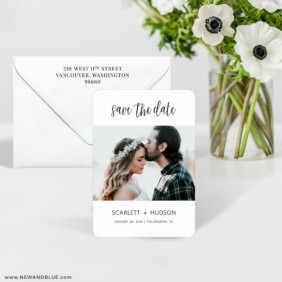 Sweet Romance 7 Wedding Save The Date Magnet
